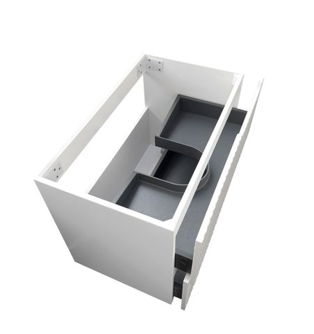 NOOSA Matte White 750x460x550 Wall Hung  cabinet only