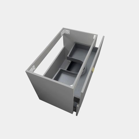 BOSTON Matte Grey 750x460x550 Wall Hung  cabinet only