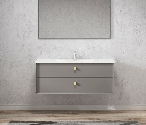 BOSTON Matte Grey 1200x460x550 Wall Hung  cabinet only