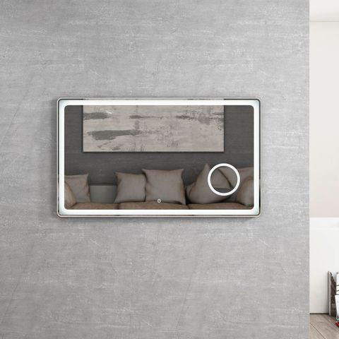 BOSTON Brushed Silver LED Mirror 1200x70