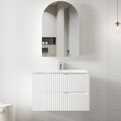 NOOSA Matte White 900x460x550 Wall Hung  Vanity