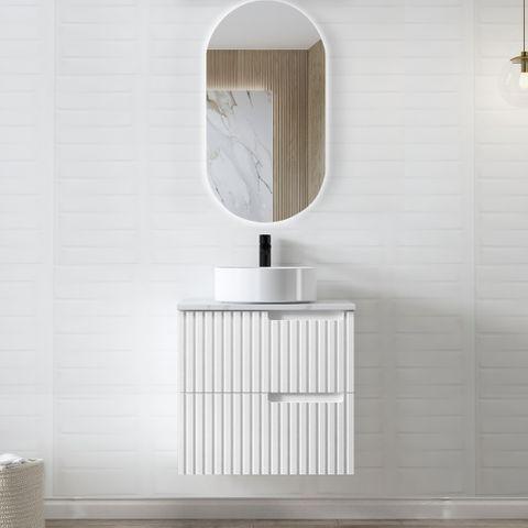 NOOSA Matte White 600x460x550 Wall Hung  Vanity