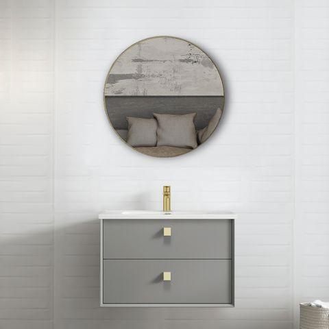 BOSTON Matte Grey 750x460x550 Wall Hung  Vanity