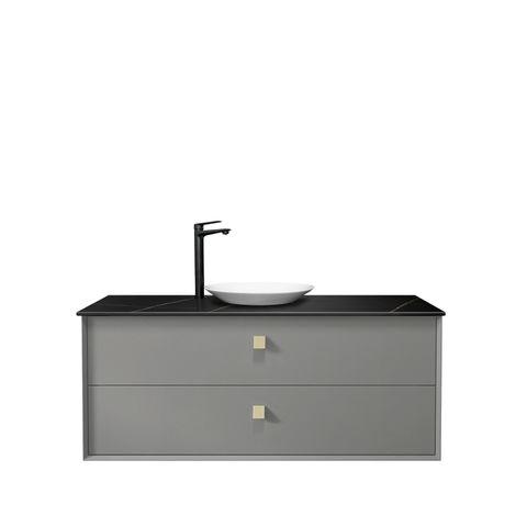 BOSTON Matte Grey 1200x460x550 Wall Hung  Vanity