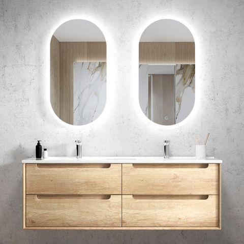 BYRON Natural Oak 1500x460x550 Wall Hung  Vanity