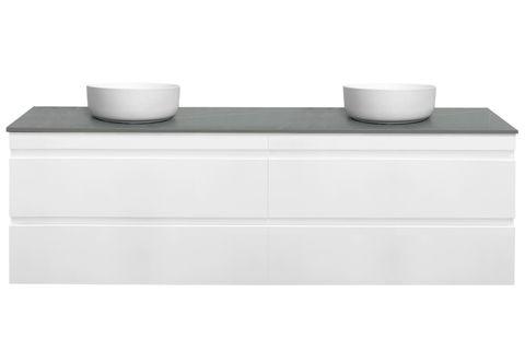 DM1800 Gloss White Wall Hung Vanity