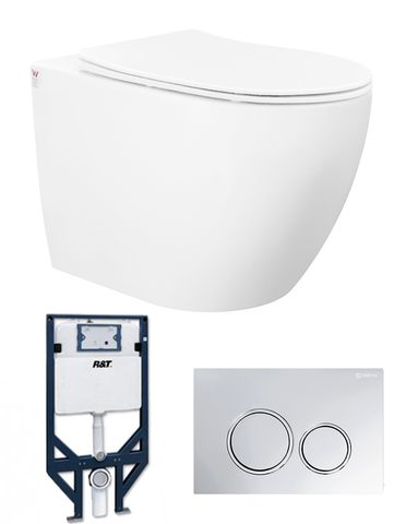 Voghera Wall Hung Pan Box rim With R&T Cistern