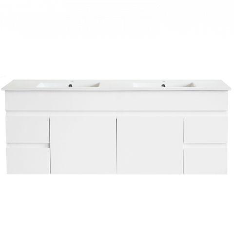 PVC 1500x460 Vanity WH D Bowl