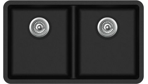 Granite Blk Sink Dbl 810x480