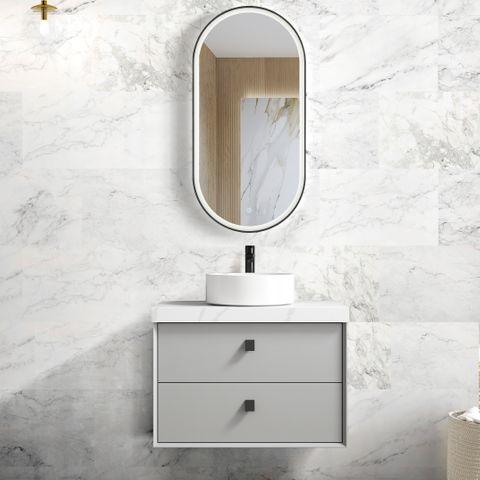 BOSTON Light Grey 750x460x550 Wall Hung  Vanity
