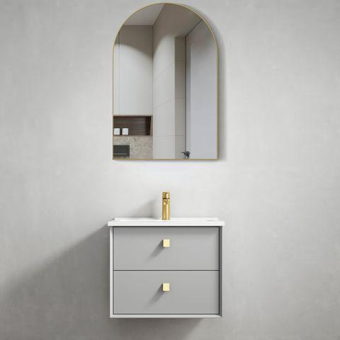 BOSTON Light Grey 600x460x550 Wall Hung  Vanity