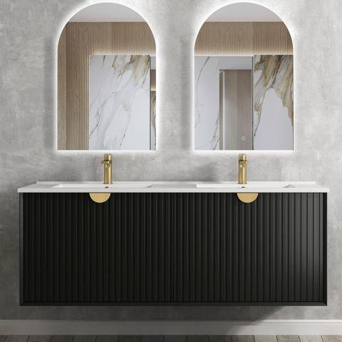 Marlo Matte Black 1500x460x550 Wall Hung  Vanity