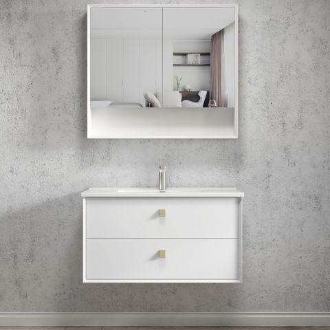 BOSTON Matte White 900x460x550 Wall Hung  Vanity
