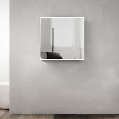 Moonlight led shaving cabinet 750*650*130 With Solid Surface stone Edge