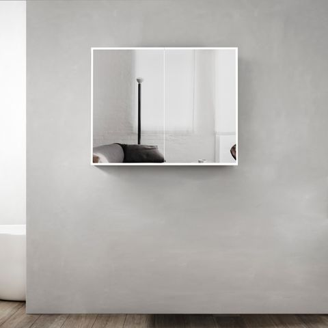 Moonlight led shaving cabinet 900*650*130 With Solid Surface stone Edge