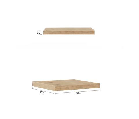 600X450 Natural Oak Leg Panel