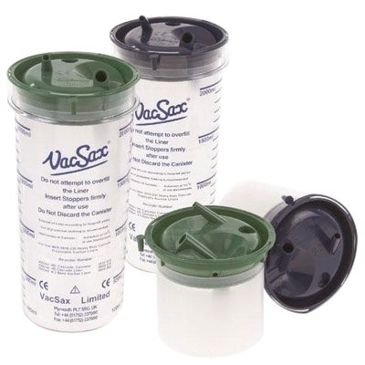 VACSAX SUCTION CANISTERS 2L