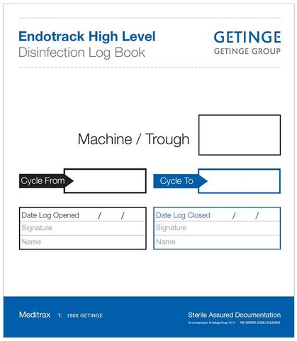 ENDOTRACK DISINFECTION LOG BOOK