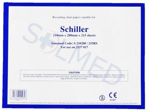 PAPER ECG Z-FOLD SCHILLER 210MM x 280MM