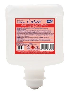 HAND SANITISER ALCOHOL FOAM CUTAN 1L
