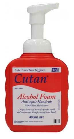 HAND SANITISER CUTAN ALCOHOL FOAM 400ML