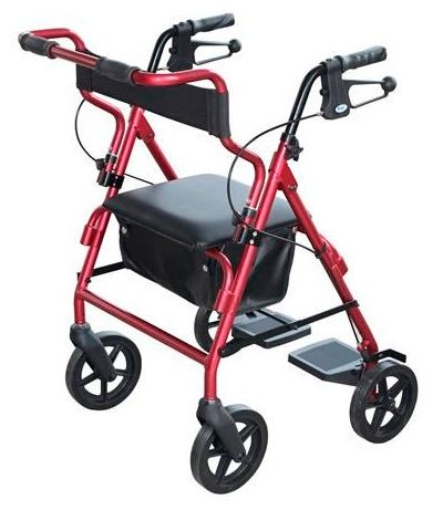 SEAT WALKER WITH HANDBRAKES AND BACKREST