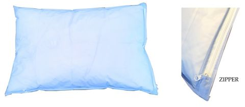 PILLOW PROTECTOR ZIP VINYL