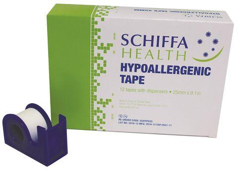 TAPE HYPOALLERGENIC + DISP SCHIFFA 25MM