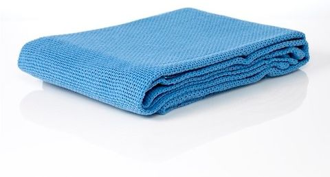 BLANKET COTTON SINGLE BLUE