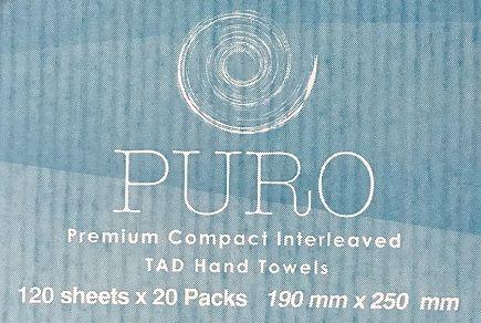 TOWEL COMPACT TAD PURO 19 x 25CM