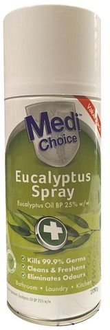 MEDICHOICE EUCALYPTUS SPRAY 200ML