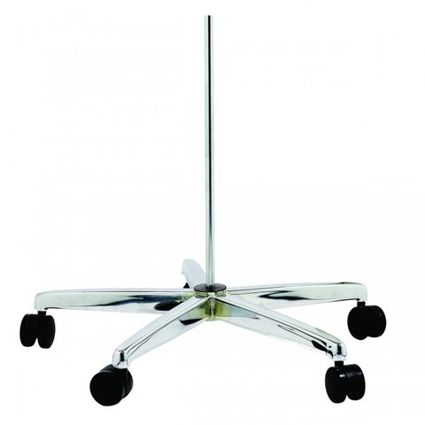 FLOOR STAND BASE CHROME MOBILE