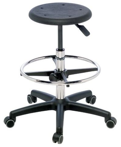 STOOL SURGEON POLY TOP WITH FOOTREST