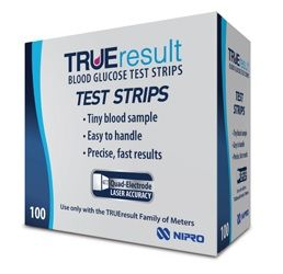 TRUE RESULT BGL TEST STRIPS
