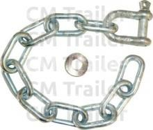 SAFETY CHAIN & SHACKLE 600mm