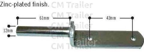 GUDGEON 12mm BOLT-ON