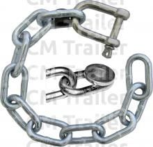 SAFETY CHAIN 600 S/S SHACKLE/INSERT