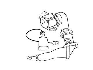 Seat Belt Retractor and Buckle