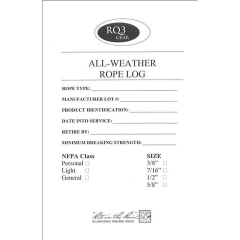 All Weather Rope Log