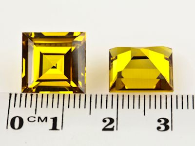 Synthetic Yellow Sapphire 12mm Square (S)
