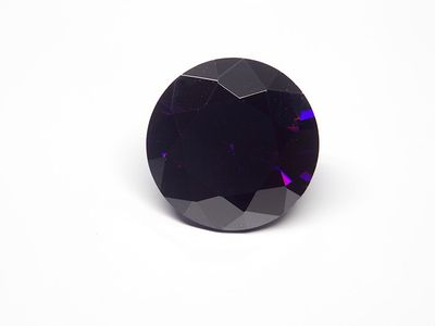 Cubic Zirconia Amethyst Colour 12mm Round (S)