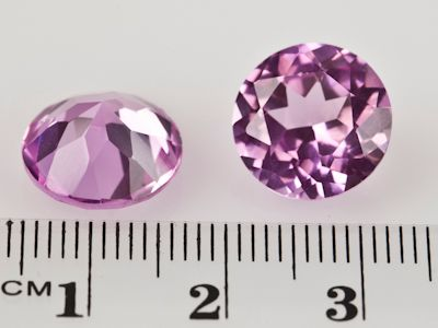 Synthetic Sapphire Pink 12mm Round (S)