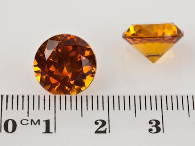 Synthetic Yellow Sapphire 12mm Round (S)