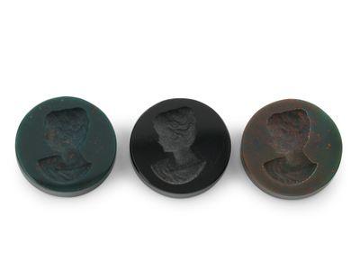 Bloodstone Intaglio 12mm Round Disk (N)