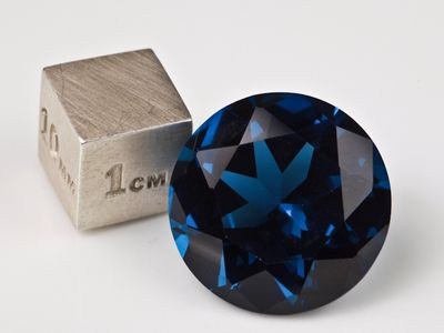 Synthetic Blue Spinel Zircon 18mm Round (S)