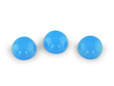 Turquoise Sleeping Beauty 6mm Round Cabochon (E)