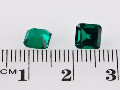 Hydrothermal Emerald 6mm Square Emerald Cut (S)