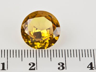 Synthetic Yellow Sapphire 14mm Round (S)