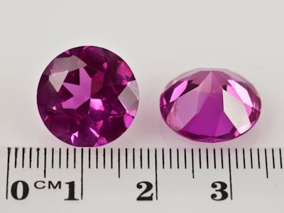 Synthetic Sapphire Pink 14mm Round (S)