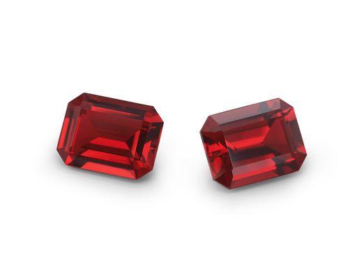 Kyocera Ruby 8x6mm Emerald Cut (S)